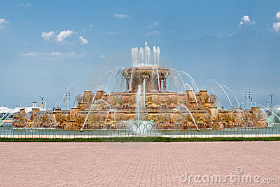 Buckingham Chicago fontanny dotaci park