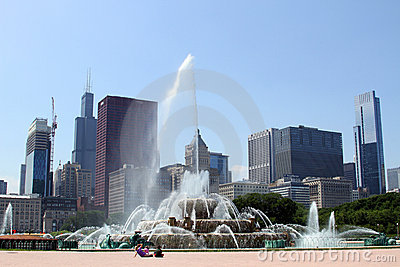 Buckingham Fountain Editorial Photography