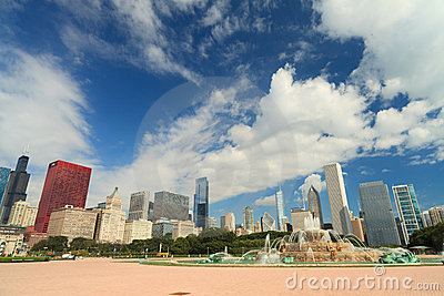 Buckingham Fountain Chicago Editorial Photography