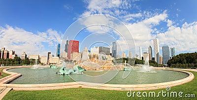 Buckingham Fountain Chicago Editorial Stock Photo