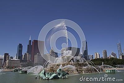 Buckingham Fountain Chicago Editorial Photo