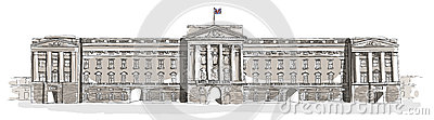 Buckingham Palace line art