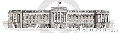Buckingham Palace line art