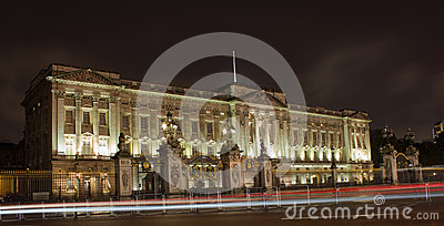Buckingham Palace at night Editorial Stock Photo