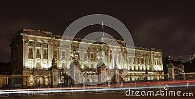 Buckingham Palace at night Editorial Stock Photo
