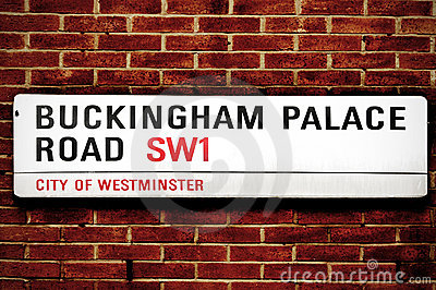 Buckingham Palace Road, in London, United Kingdom Editorial Photography