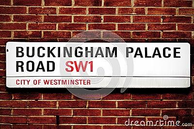 Buckingham Palace Road, in London, United Kingdom Editorial Photography