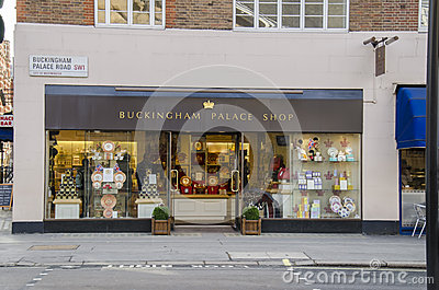 Buckingham place shop Editorial Stock Photo