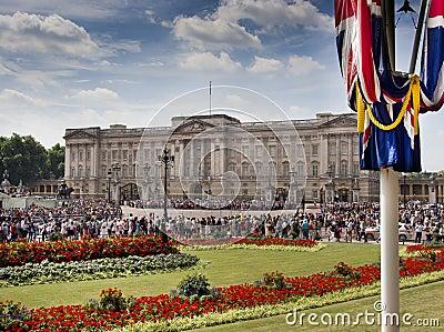 Buckingham ställe Redaktionell Foto