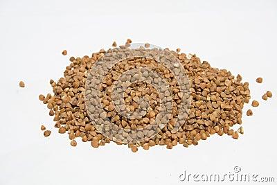 Buckwheat on isolated background