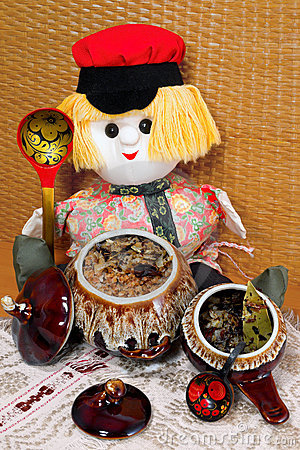 Buckwheat porridge in the pot