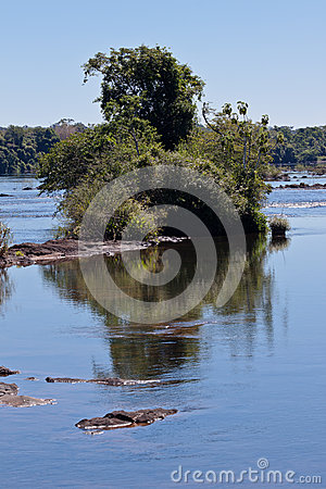 Bucolic View Foz do Iguassu Brazil Editorial Photo