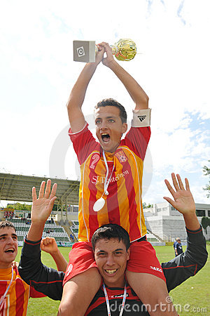 Bucuresti players rejoice Editorial Image