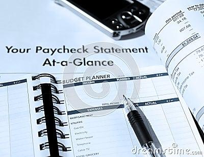 Budżeta planowanie wydatkowy osobisty