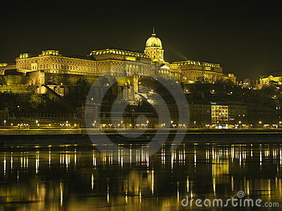Buda Castle by night (Budapest, Hungary)