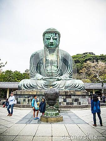 Buda de Daibutsu de Kamakura Foto de Stock Editorial