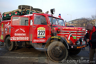 Budapest-Bamako rally 2009, start Editorial Photography