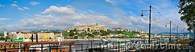 Budapest Buda Castle and Danube river Editorial Stock Photo