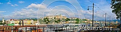 Budapest Buda Castle and Danube river Editorial Stock Photo