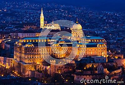 Budapest Citadel at blue hour
