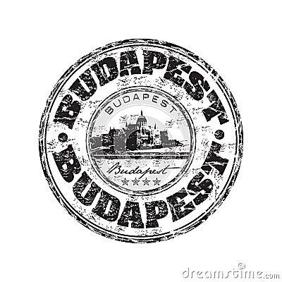 Budapest grunge rubber stamp