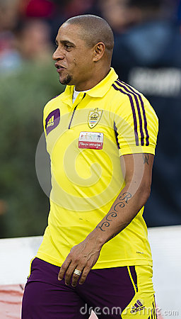 Budapest Honved vs Anzhi Makhachkala football game Editorial Stock Image