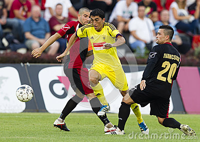 Budapest Honved vs Anzhi Makhachkala football game Editorial Photography