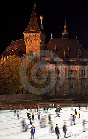 Free Budapest Iceskating Stock Photography - 1580262