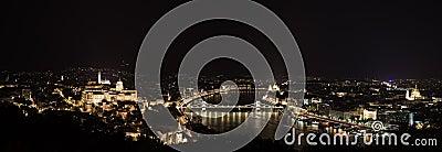 Budapest nightlife. Panorama