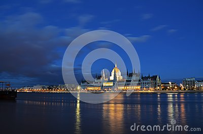 Budapest parliament building panorama