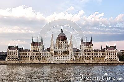 Budapest parliament contrast shot
