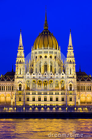 Budapest Parliament at Twilight