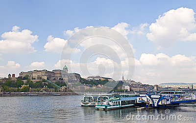 Budapest riverboat Editorial Stock Image