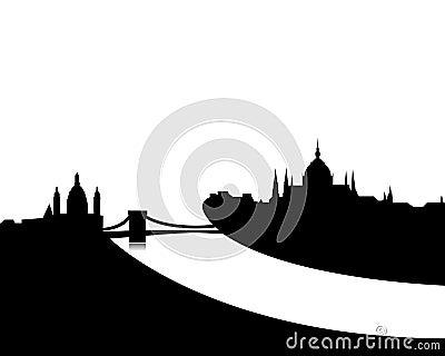 Budapest skyline vector