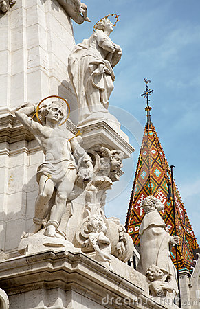 Budapest - st. Sebastien from Trinity column