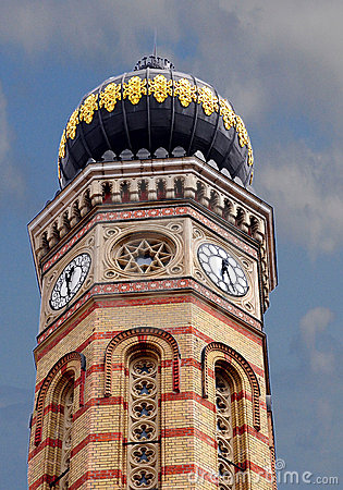 Free Budapest The Choral Synagogue Fragment Facade Dome Stock Photo - 11108650
