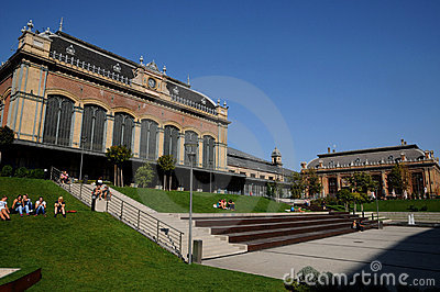 Budapest West railway station - new park Editorial Photo