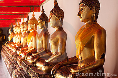 Budda in temple,thai of asia