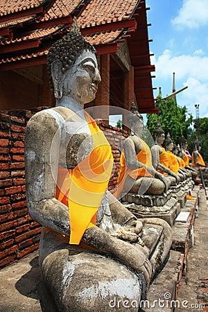 Buddha in ayuttaya  Thai
