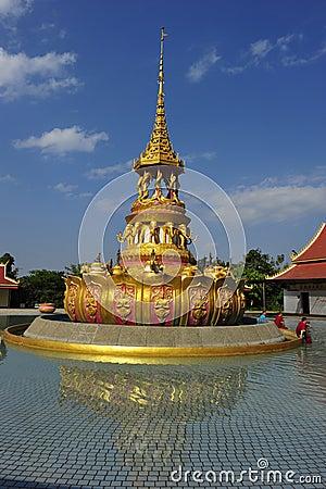 Buddha-Bathing Square Editorial Photo