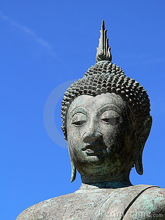 Buddha: blue sky