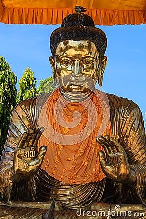 Buddha at Botatoung Pagoda , Yangon in Myanmar (Burmar)