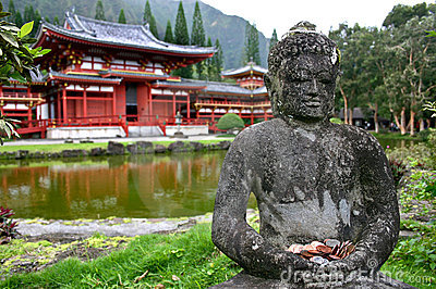 Buddha and Byodo-In Temple- Oahu, Hawaii
