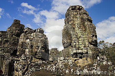 Buddha Carvings in Bayon Temple
