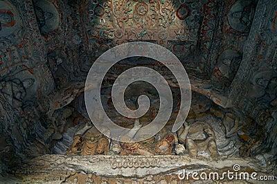 Buddha cave of Yungang grottoes Stock Photo