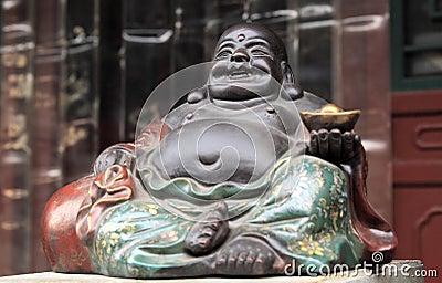 Buddha del fronte sorridente.