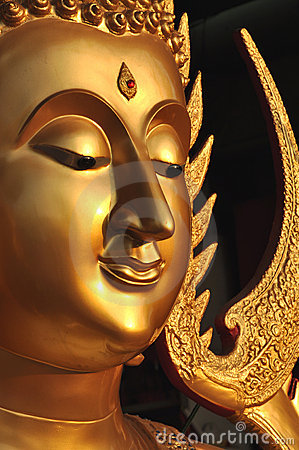 Free Buddha Face Brass Aura Stock Photos - 13123663