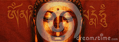 Buddha Face with Mantra