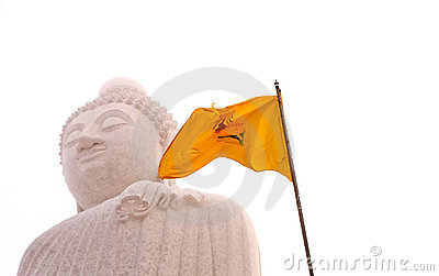 Buddha and Flag