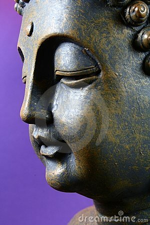 Buddha in front of violet